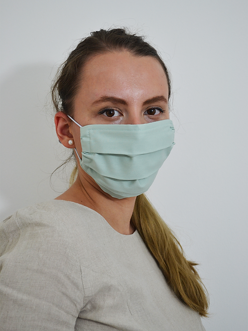Teal Reusable Face Mask in Organic Cotton