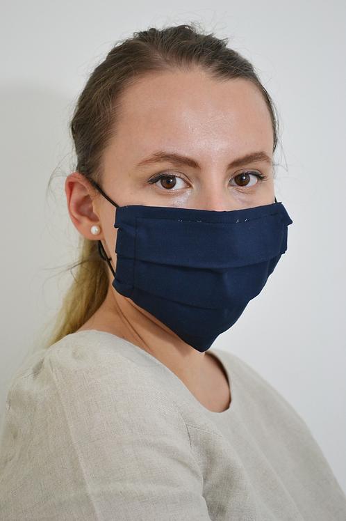 Navy Reusable Organic Cotton Face Mask