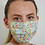 Thumbnail: Floral Red&Teal Pleated Organic Cotton Face Mask