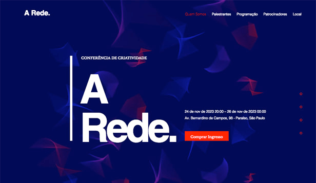 Design website templates – Conferência de Design