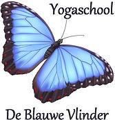 Logo Yogaschool De Blauwe Vlinder niet v
