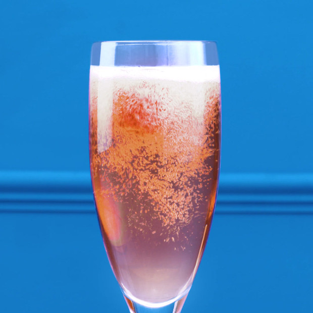 How does one Zhuzh It Up? Find your fizz, add lady Chambord and sneak the raspberry to finish. Voila!