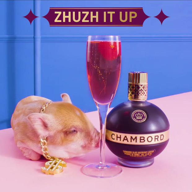 If the petite piggy enjoys the day of the pay, your tongue shall be tickled. No ordinary tipple will do, Zhuzh It Up mon petite chou!