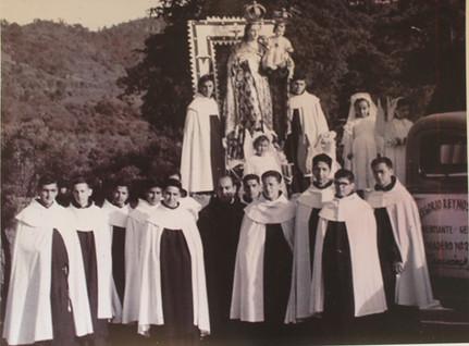 Santo Desierto, en procesión tras una restauración de la imagen de la Virgen del Carmen.