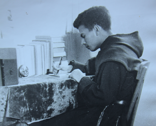 10 de octubre de 2014, días antes de que depositaran la urna de los restos que contiene el cuerpo de Chavita. Todos los frailes en la imagen eran los formadores de esa época.
