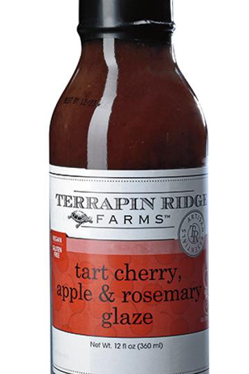 Tart cherry, apple, and rosemary glaze