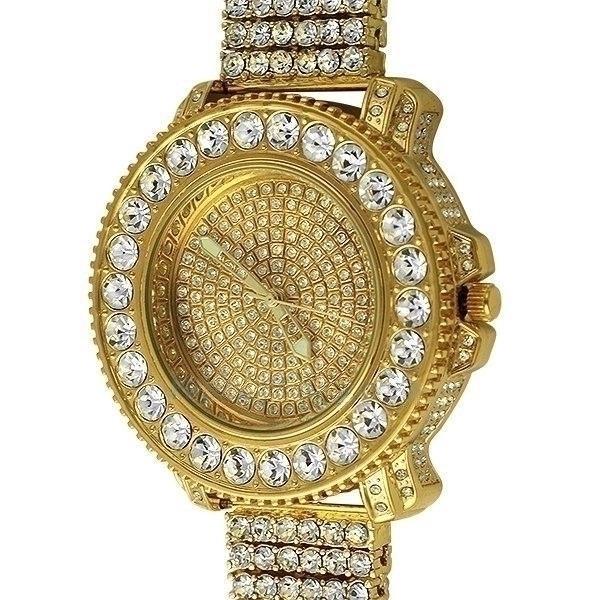 4607ac4e262 Relógio Cravejado Em Zircônias Brancas