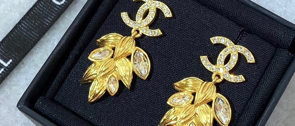 CHANEL Earrings Silver 925Silver