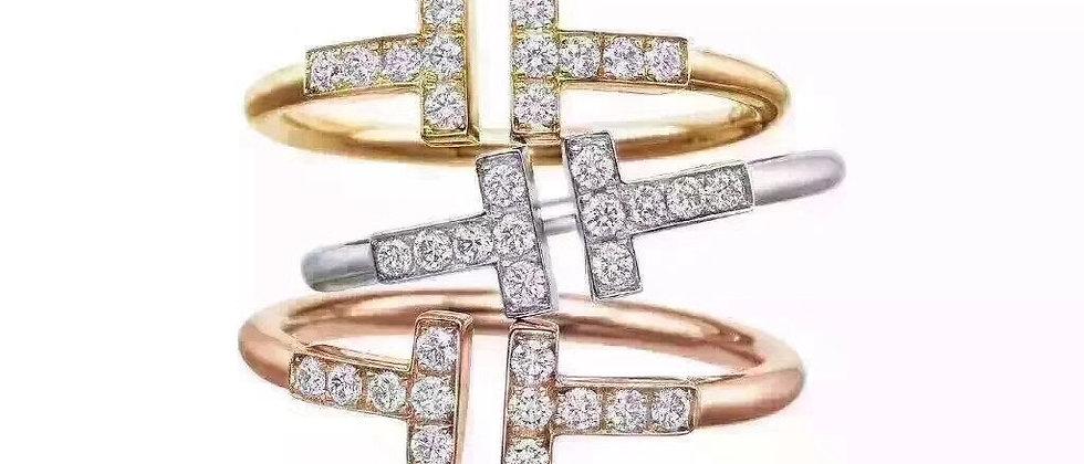 TIFFANY  Rings Crystal Pt950