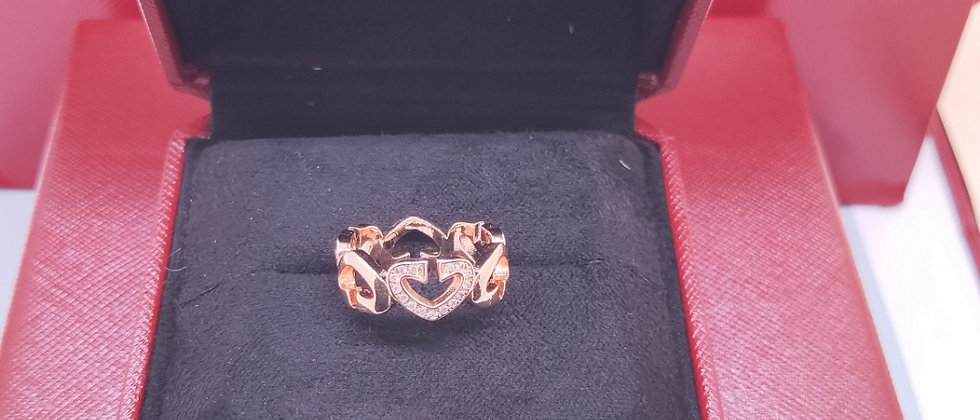CARTIER Rings Crystal 925Silver