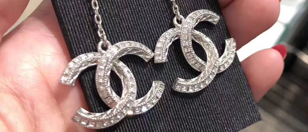 CHANEL Earrings  925Silver