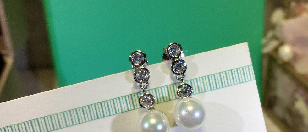 TIFFANY Earrings Pearl 925Silver