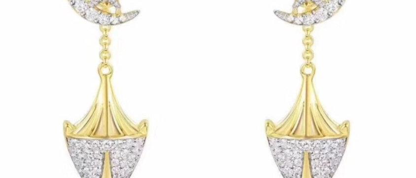 APM Earrings Crystal Pt950