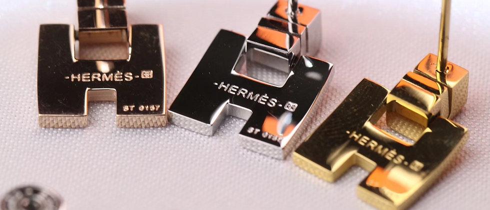 HERMES Earrings 925Silver