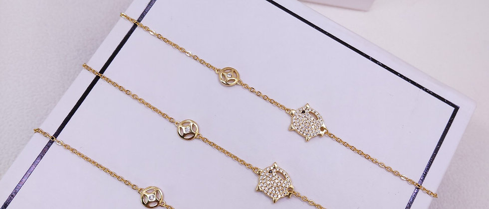 HEFANG  Necklace Crystal Silver952