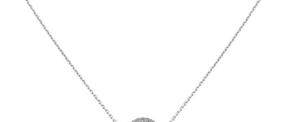 CARTIER Necklace Crystal 925 Silver