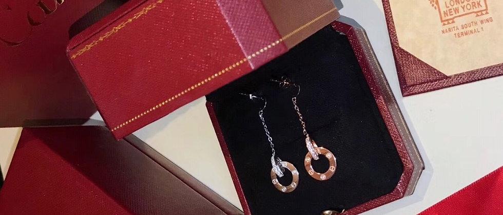 CARTIER Earrings Pt950