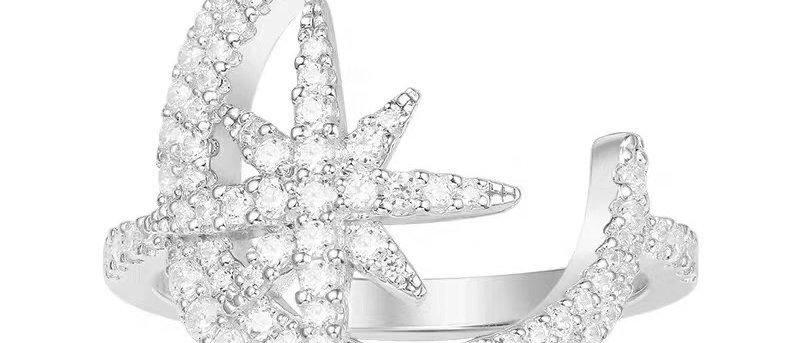 APM MONACO Rings Crystal 925Silver