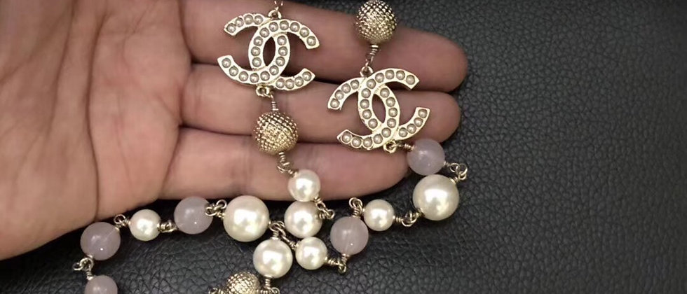 CHANEL Necklace Pearl 925Silver