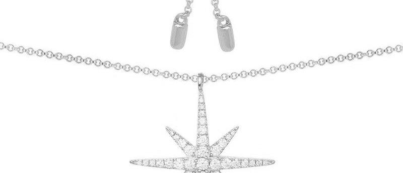 APM MONACO Necklace Crystal Silver952