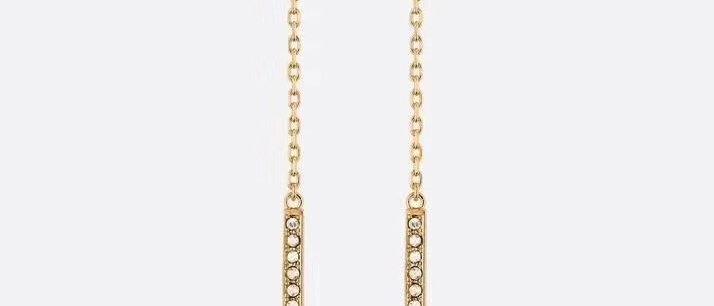 DIOR Earrings Crystal 925Silver