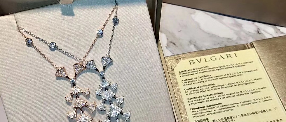 BVLGARI Necklace Crystal Pt950