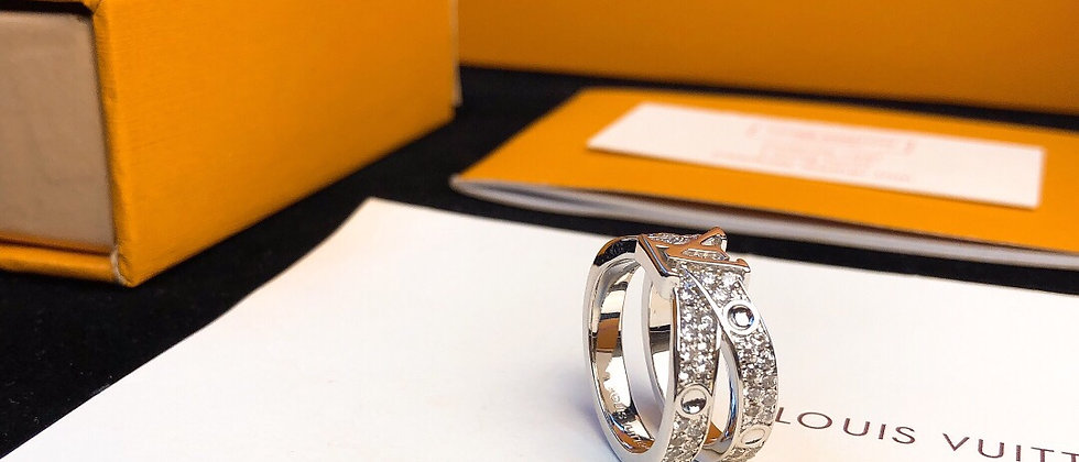 LOUIS VUITTON Rings Crystal 925Silver