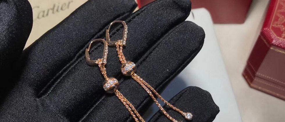 CARTIER Earrings Crystal 925Silver