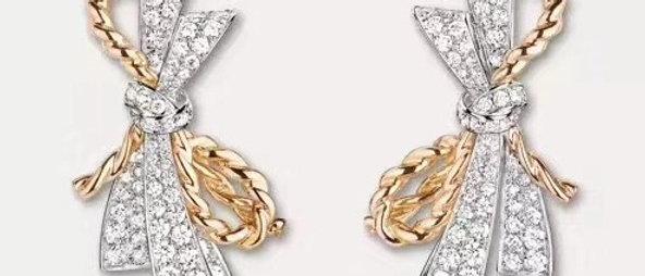 CHAUMET Earrings  Crystal 18K
