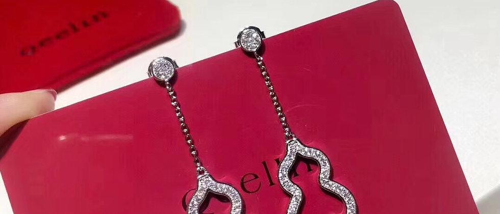 QEENLIN Earrings Crystal 925Silver