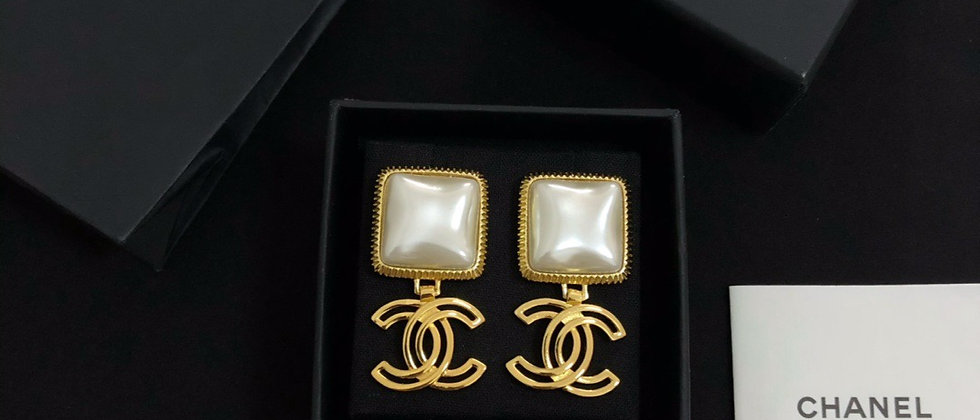 CHANEL Earrings Silver 925Silver