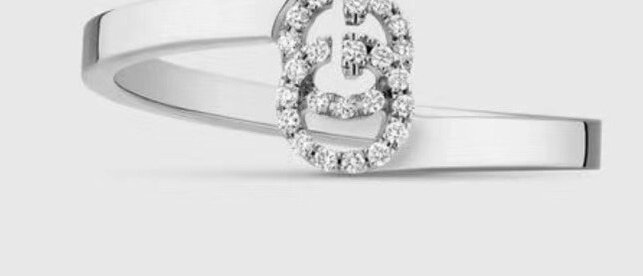 GUCCI Rings Crystal 925Silver