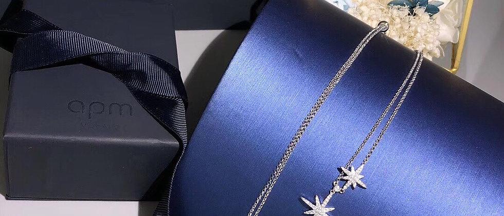 APM Necklace Crystal Silver925