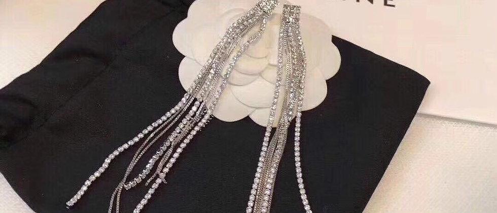 CELINE Earrings 925 Silver