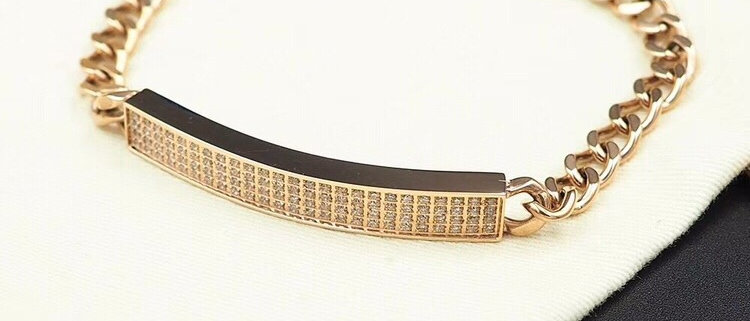 CARTIER Bracelet Crystal 925Silver