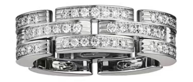 CARTIER Rings Crystal Pt950