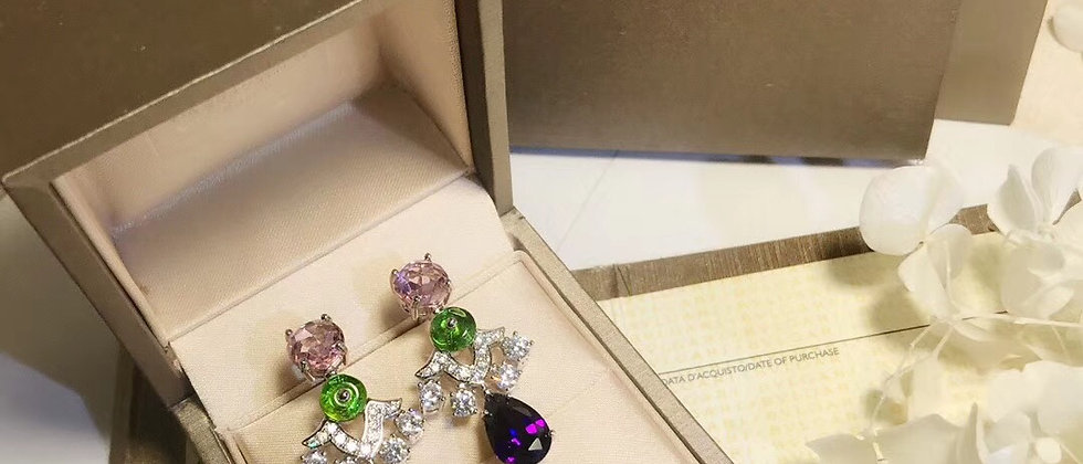 BVLGARI Earrings Crystal 18K