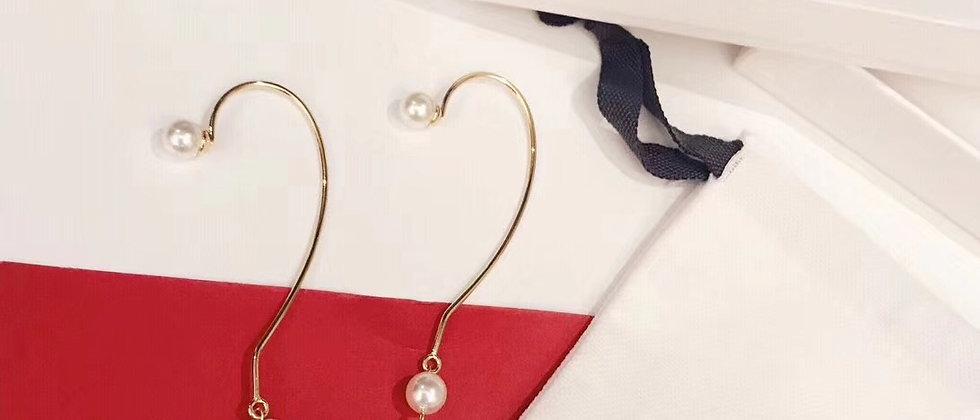 CELINE  Earrings Pearl 925Silver