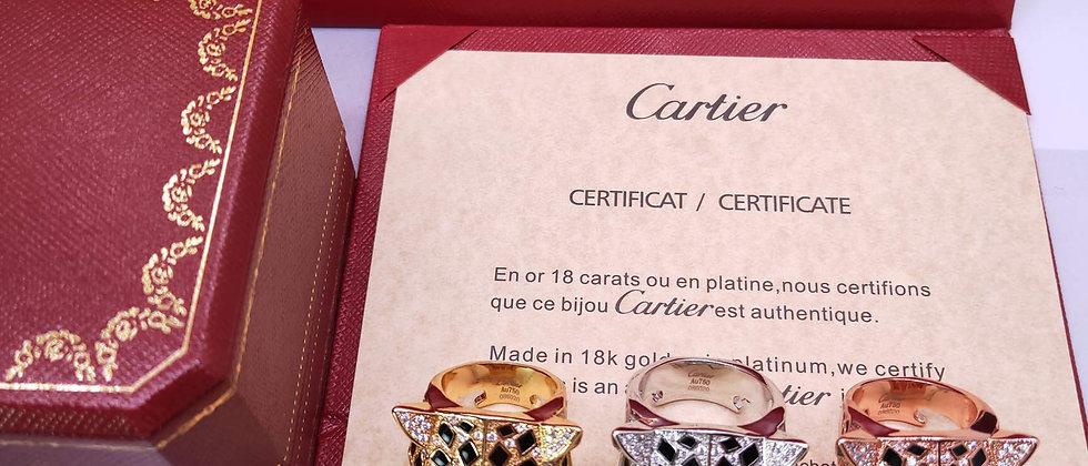 CARTIER Rings Crystal Pt950