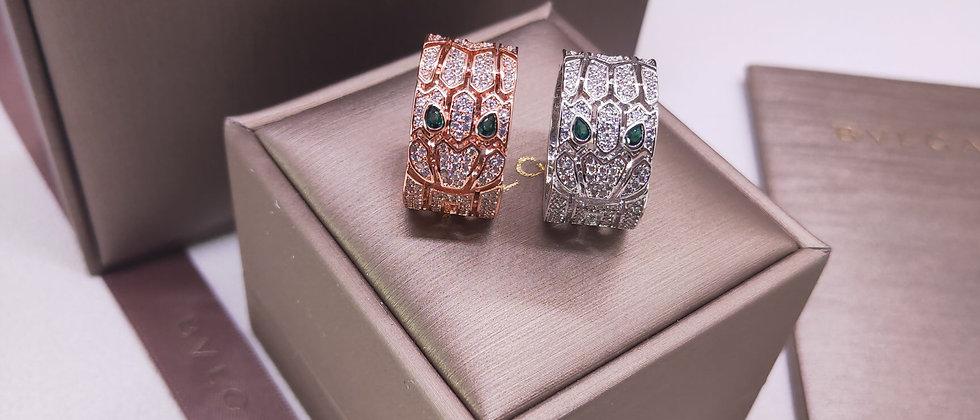 BVLGARI Rings Crystal Pt950