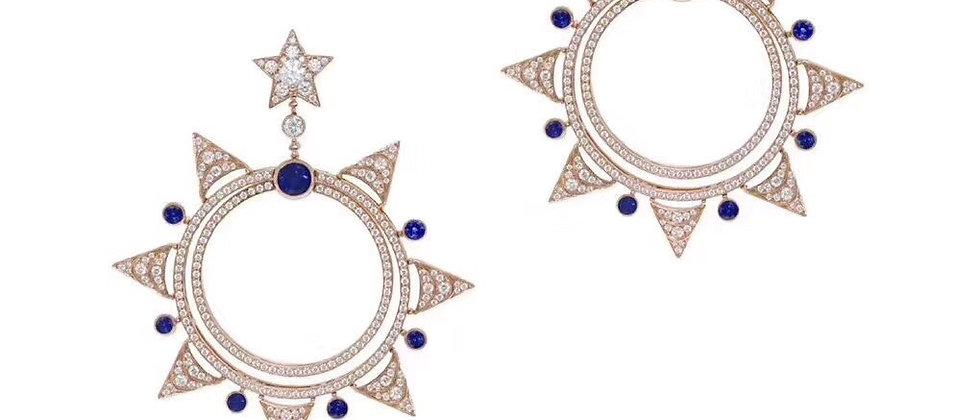 BVLGARI Earrings Crystal 925Silver
