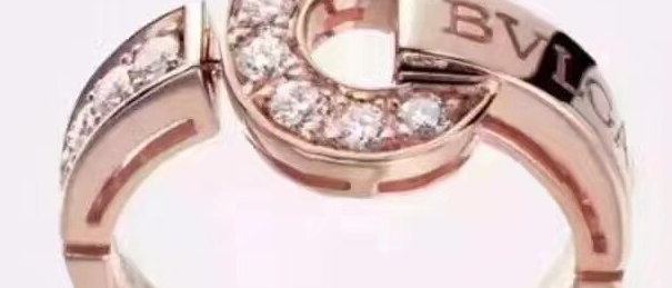 BVLGARI Rings Crystal Pt950