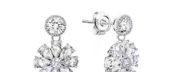 BVLGARI Earrings Crystal Pt950