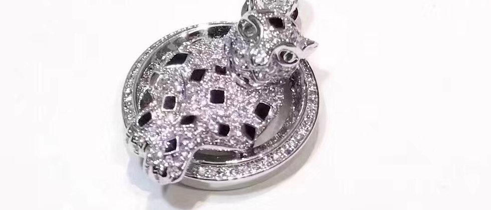CARTIER Necklace Crystal 925Silver
