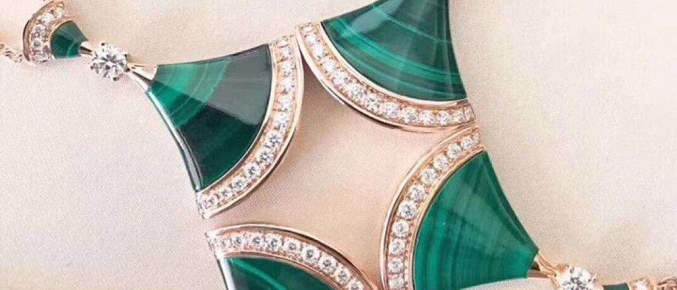 BVLGARI Necklace Crystal 925Silver