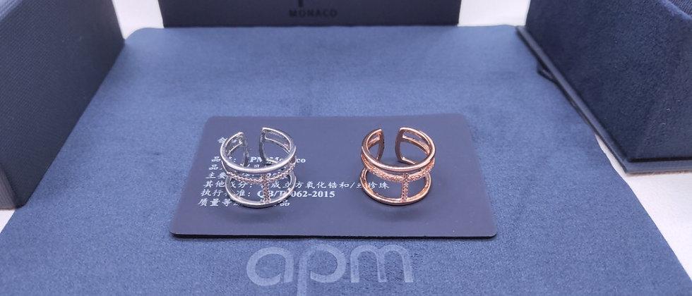 APM Rings Crystal Silver925