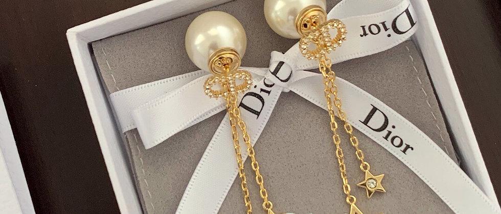 DIOR Earrings pearl 925Silver
