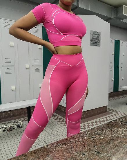 Gym Babe - Legging Set - Hot Pink