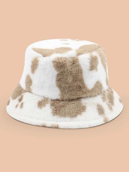 Fluffy Bucket Hat- Brown