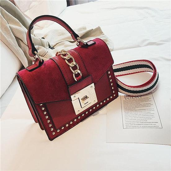 Luxury Small Cross Body Chain Rivet Handbag